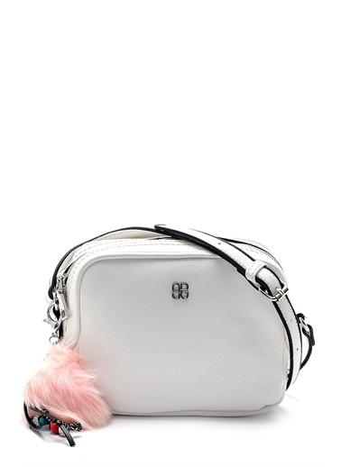 Derimod Messenger / Askılı Çanta Beyaz